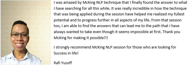 Rafi Yusoff Testimonial for Lee McKing