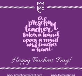 happy teachers day purple