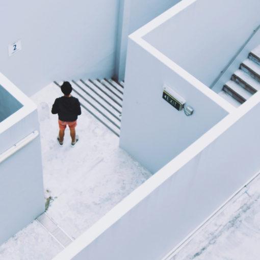 Presentation maze white