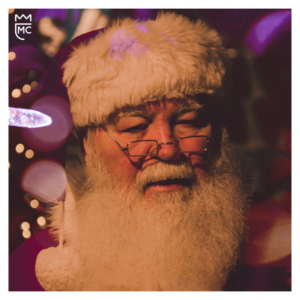 Lee McKing and Santa