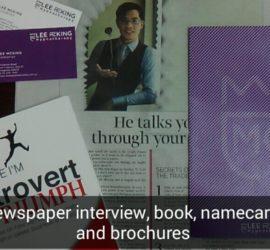 Presentation newpaper and marketing
